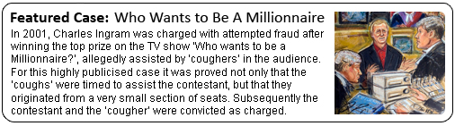 Who wants to be a millionaire coughing case